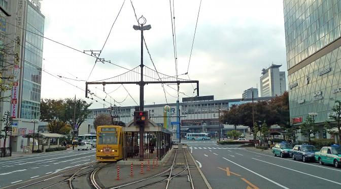 岡電のJR駅乗り入れ、駅前商店街が反対表明