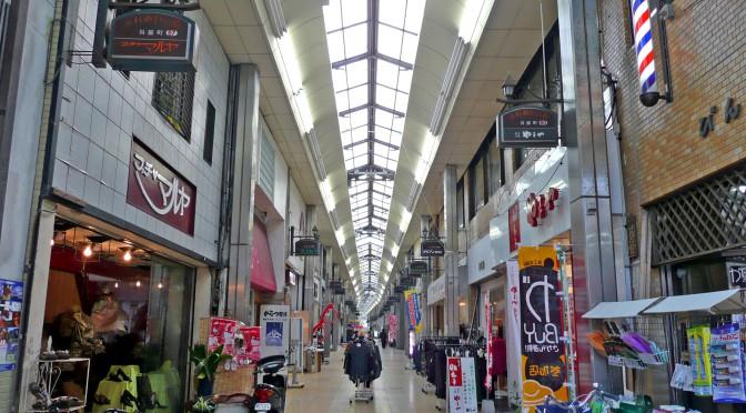 唐津呉服町商店街、アーケード撤去が完了